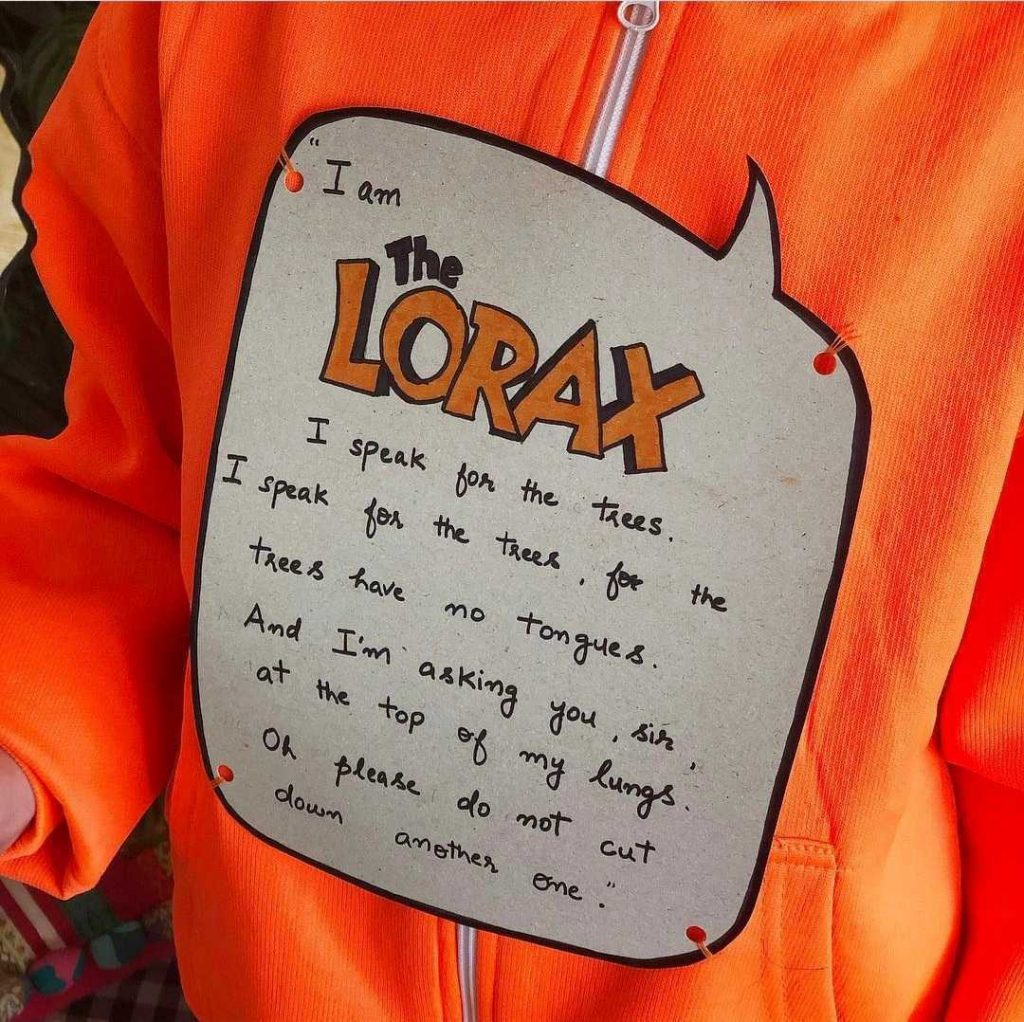 the lorax DIY world book day