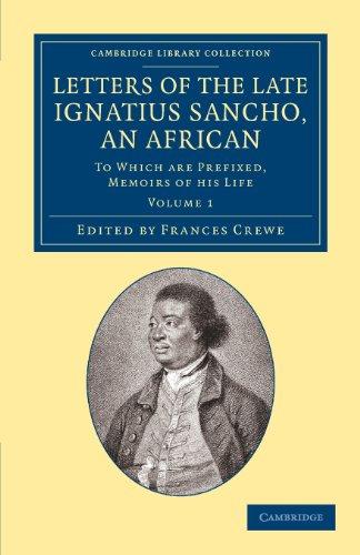 letters of Ignatius Sancho book
